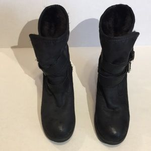 SM New York Boots/ankle/booties/fur-sz8